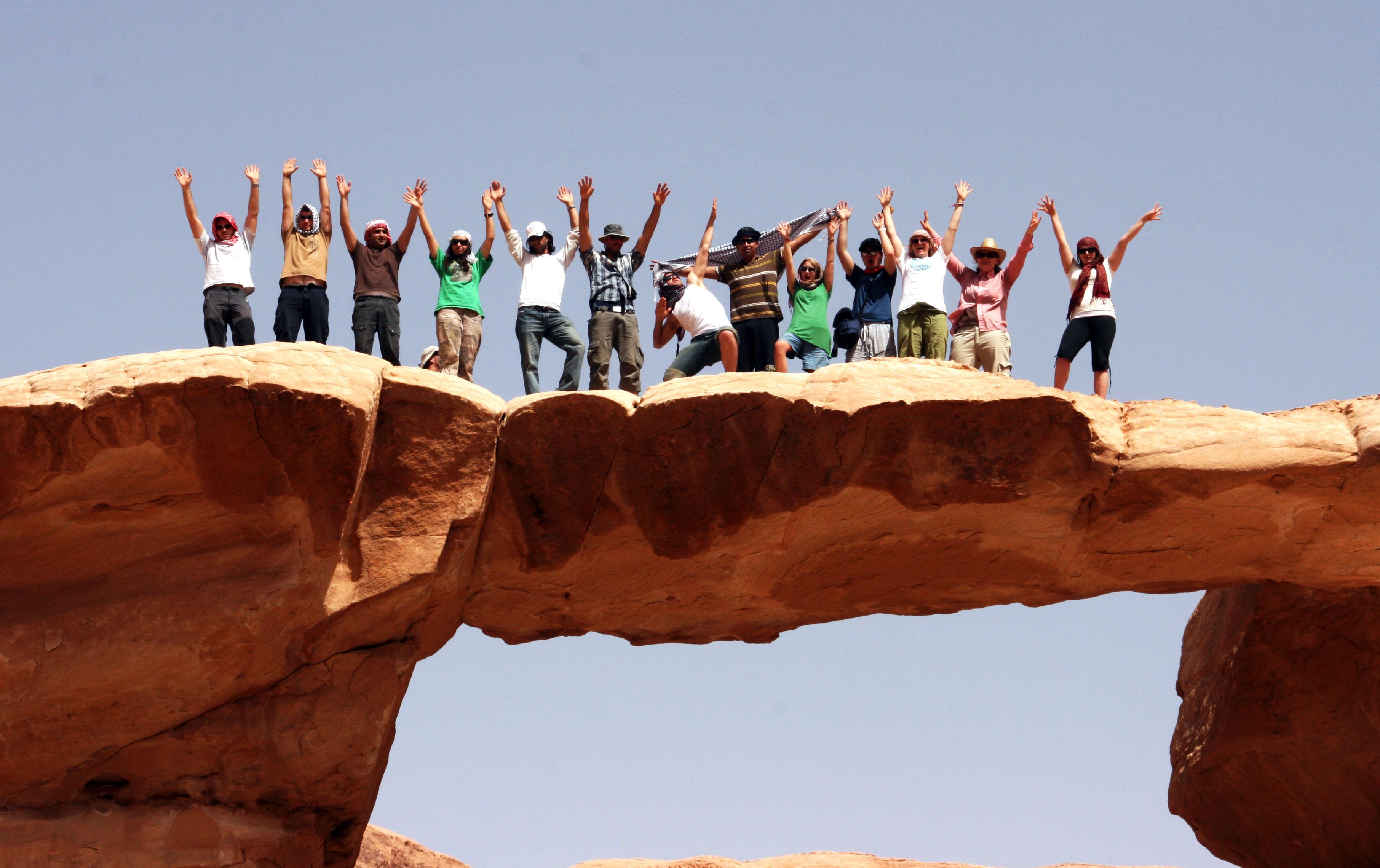 BridgeBuilders deltakere på fjell